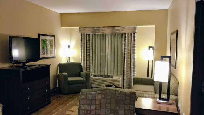 Living Room at the Homewood Suites by Hilton Coralville