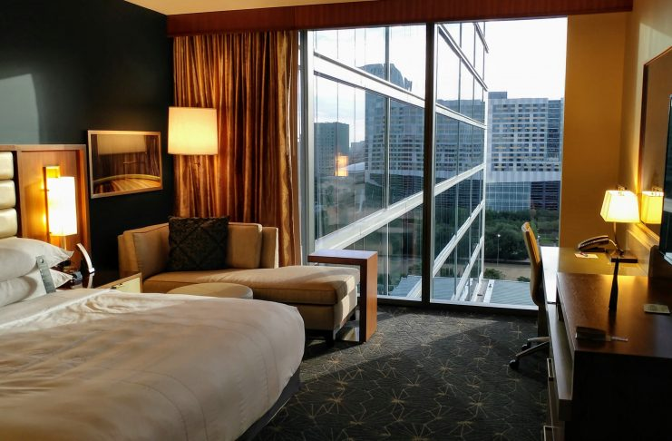 King Bed at the Marriott Marquis Houston