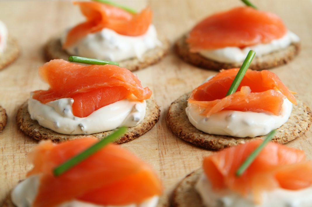 Smoked Salmon Canapes - PublicDomainPictures via Pixabay