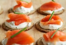 Smoked Salmon Canapes - PublicDomainPictures via Pixabay
